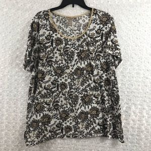 White Stag Woman Plus Size 2X Top Shirt Blouse